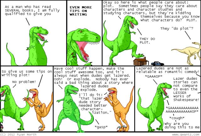 Character vs plot qwantz Dinosaur Comic 2157 - image 2