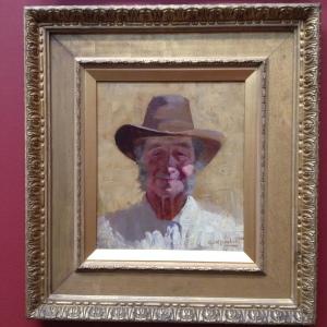 'Old Joe' by George W Lambert