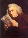 Samuel Johnson, a portrait by Joshua Reynolds from Creative Commons