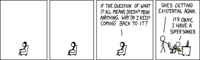 XKCD 220: 'Philosophy / Existential'