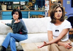 Friends Season 1 Monica and Rachel Image source: 'FRIENDS' TV show via Hello Giggles