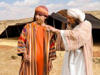'Joseph and the rainbow coat' Image source: Free Bible Images