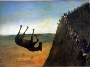 'The slip horse falling off a cliff' by Sidney Nolan