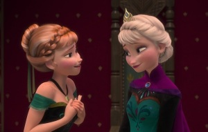 Anna and Elsa talking at the coronation ball Image source: Frozen, Walt Disney Pictures