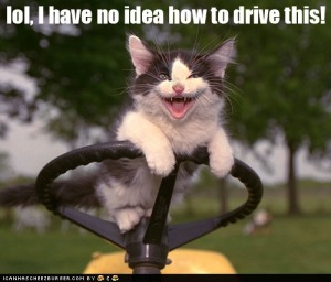 """lol, I have no idea how to drive this."" Keep calm and keep on going. Image source: We Heart It"