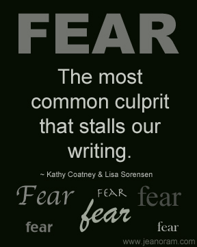 'Fear'. Image source: Kathy Coatney and Lisa Sorensen via Jean Oram via fellow blogger Jodie Llewellyn's blog: