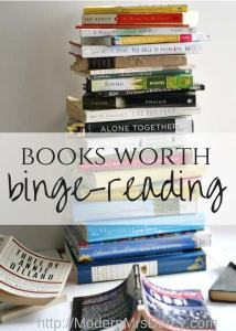 'Books worth binge-reading' by Modern Mrs. Darcy