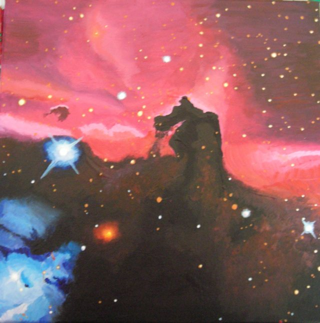 'The Horsehead Nebula' painting I did in 2011 to celebrate the vastness of God's creation.