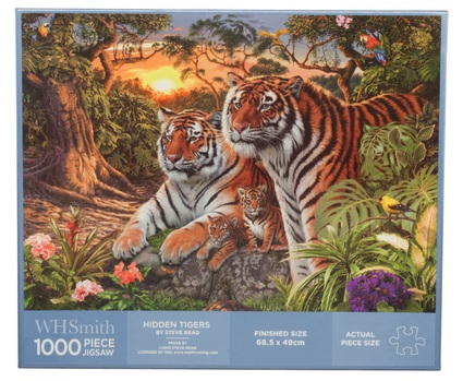 Image source: WHSmith 1000 Piece Jigsaw: 'Hidden Tigers' by Steve Read