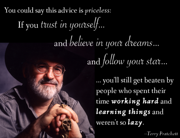 Terry Pratchett quote from Tumblr / Reddit. Source unknown.
