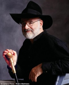 Terry Pratchett.  Image source: Robin Matthews, Camera Press, via Daily Mail UK