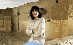 Christiane Amanpour. A practical option for the foxholes of Afghanistan. Image source: The Telegraph UK