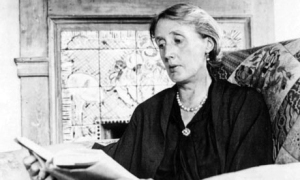 Virginia Woolf. When she was older – the black against those pearls! Image source: E-Verse Radio