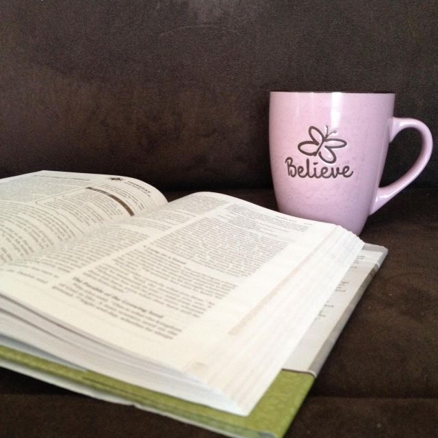 My NIV Couples' Devotional Bible and my favourite coffee mug