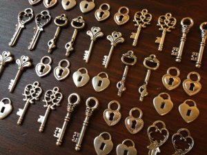 74 - Skeleton Keys with Locks - from The Journey's End on Etsy