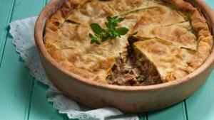 Captain Corelli - Cephalonia meat pie - from Yoleni's Mediterranean Food and Taste