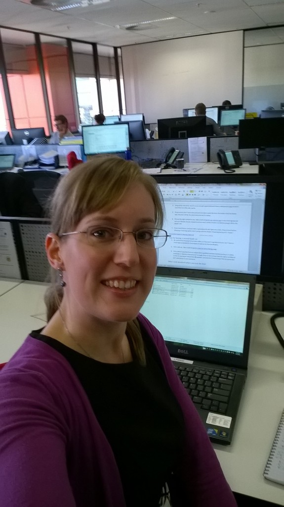 Me hard at work in the new Canstar office in Brisbane CBD. I took this photo using my new Windows phone.