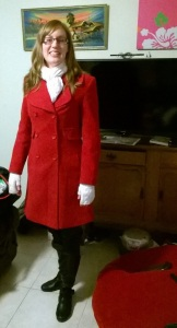 My new red coat.