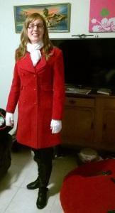 My new red coat.