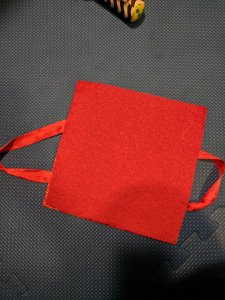 Back side felt of DIY Baby sensory toy Handle bag craft